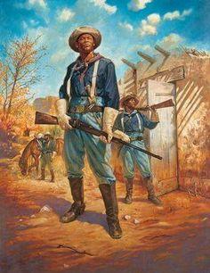 La Pintura y la Guerra. Sursumkorda in memoriam American Indian Wars, American War, African American History, Military Art, Military History, Black History, Art History, Westerns, Black Cowboys
