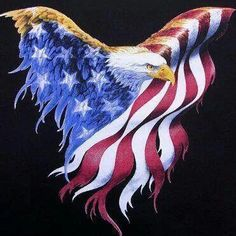 Other pinned said.: Born To Be Free Cross Stitch Pattern Beautiful patriotic symbolism. Pattern Only (counted cross stitch) Manufacturer: Cody Country Crossstitch & Crafts American Pride, American Flag, American Symbols, American History, Patriotic Pictures, I Love America, America Images, Joke Of The Day, Arte Horror