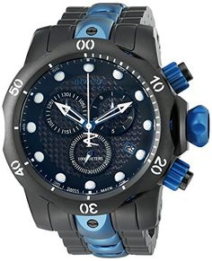 Men's Wrist Watches - Invicta Mens Venom Swiss Quartz Stainless Steel Casual Watch Model 15461 ** Click image for more details. (This is an Amazon affiliate link)