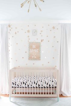 Nursery ideas with Cricut, be brave, pink and neutal, mixed patterns