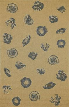 Indoor-Outdodor rugs from Liora Manne: Tropez Sea Shell Blue. Order from Rich's for the Home. Nautical Rugs, Coastal Rugs, Shells And Sand, Sea Shells, Ocean Rug, Square Rugs, Cheap Rugs, Area Rugs For Sale, Natural Fiber Rugs