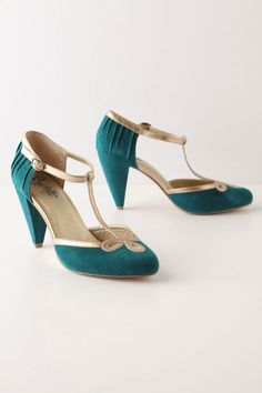 Trefoil T-Straps, Anthropologie