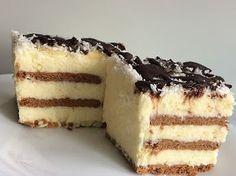 Polish Desserts, Cookie Desserts, Sweet Desserts, No Bake Desserts, Sweet Recipes, Cake Recipes, Poke Cakes, Lava Cakes, Sweets Cake