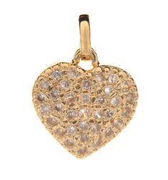 Pingente Coração com Strass Folheado em Ouro. #lancamento na @pieajan $75.90