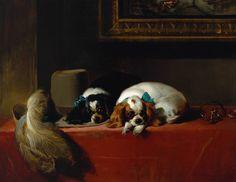 Sir Edwin Henry Landseer, King Charles Spaniels (The Cavalier's Pets), 1845