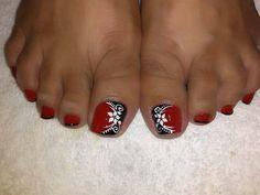 Cute Toe Nails, Sexy Nails, Cute Toes, Sexy Toes, Toe Nail Art, Trendy Nails, Toe Nail Designs, Pedicure Nails, Flower Nails