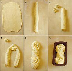 Brioche russe pas à pas photo Brioche Russe, Pan Relleno, Bread Shaping, Bread Art, Bread And Pastries, Artisan Bread, Bread Rolls, Sweet Recipes, Food To Make