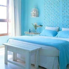 Resultado de imagen de habitacion matrimonio azul