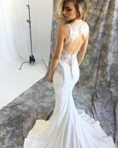 """THE BARCLAY GOWN ❤️ We love this BTS shot from our soon to be released Pallas Haute Couture La Verne' Collection. Debuting at the @markingrambride…"""