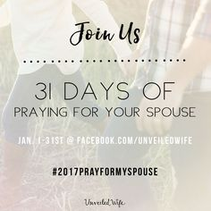 31 Days Of Praying For Your Spouse Challenge