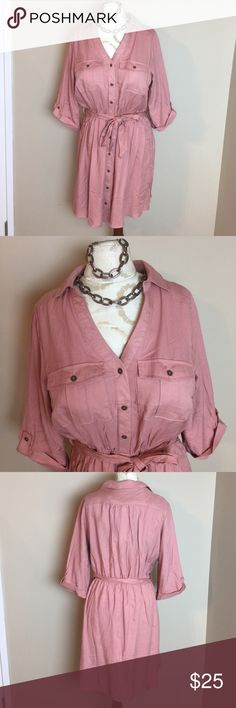 🆕Charlotte Russe Plus Pink Rose colored dress 1x New with spare button bag still attached soft beautiful pink Charlotte Russe Plus size dress in size 1X. Mid sleeve length, elastic in the waist very slimming. Would look amazing with an over coat & boots for a sassy fall fabulous style.  Also perfectly goes with the jewelry set I have posted in another listing. Want everything ?? Make yourself a bundle but buy quick I only have one of each available. This post is only for the sale of the…