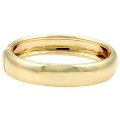 Pre-owned Cartier 18K Yellow Gold Nouvelle Vague Dome Bracelet ($6,500) ❤ liked on Polyvore featuring jewelry, bracelets, jade bangle, pandora bracelet, gold jewelry, 18k yellow gold bracelet and cartier bangle