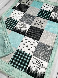 Quilting Projects, Quilting Designs, Sewing Projects, Plaid Quilt, Rag Quilt, Baby Boy Rooms, Baby Boy Nurseries, Minky Blanket, Baby Room Decor