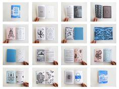 Série de doubles pages de la fanzine Feed your head.