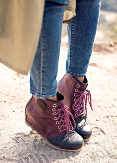 Fall Must Have Boots from SOREL...they are waterproof and very cool-looking, an awesome hybrid between a hiking boot and a stylish wedge.