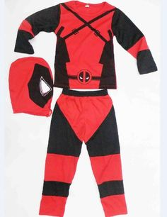 Children Deadpool Costume, Halloween Costume for Kids, Boys Party Cosplay…
