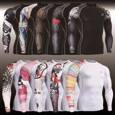 2014 Men New Skin Tights Shirts,Fixgear Brand Compression Sports T-shirts,Running Cycling Surfing Tops,Bodybuilding Fitness 3xl