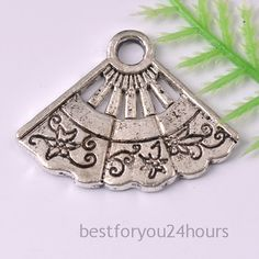Fan Charms 20pcs Antique Silver Tone charms by bestforyou24hours, $2.99
