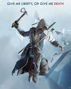 Poster Assassin's Creed 3 Connor en l'air 1