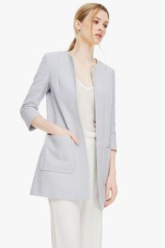 Textured Cotton Coat - Coats & Jackets | Adolfo Dominguez shop online