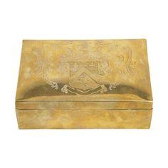 Brass Box With Crest