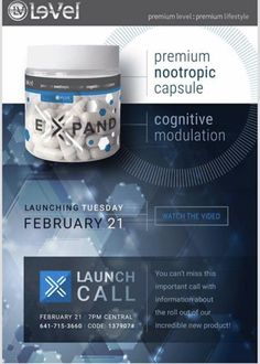 www.behealthy4you.le-vel.com  Just launched today order now !!  The only high premium cognitive brain food !!!