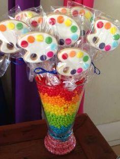 Arco iris de cores Birthday Party Ideas   Photo 1 of 27   Catch My Party