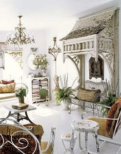 love the architecture over the love seat