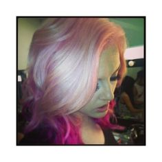 Perrie Edwards ahora tiene el cabello ROSA ❤ liked on Polyvore