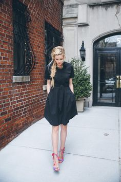Hairstyle idea for my girl. Lord & Taylor Birdcage Event - Barefoot Blonde by Amber Fillerup Clark Casual Chic, Fashion Vestidos, Barefoot Blonde, Zara, Ralph Lauren, Spring Street Style, Beautiful Person, Lord & Taylor, Her Style