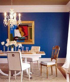 "Benjamin Moore's ""Blueberry""  via Ruth Burts Interiors' ""Best of the Bold Blue Paint Colors."""
