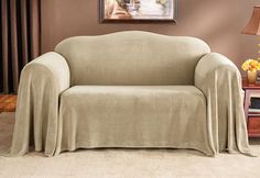 Sure Fit Slipcovers Plush Furniture Throw - Loveseat Throw (70 Inch x 140 Inch)