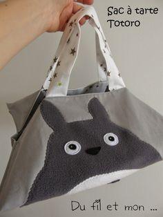 Du fil et mon...: Sac à tarte Totoro Totoro, Couture Sewing, Miyazaki, Studio Ghibli, Softies, Crochet, Kids Fashion, Geek Stuff, Girly