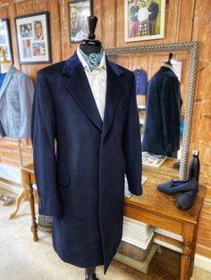 navy bespoke overcoat Navy Overcoat, Bespoke Clothing, Suit Jacket, Breast, Suits, Jackets, Clothes, Fashion, Down Jackets