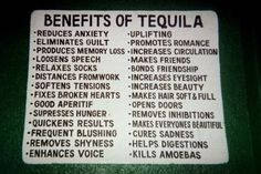 benefits of tequila or mezcal