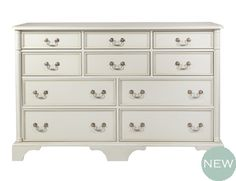 Maine Large White Chest Of Drawers New England Lifestyle Bedroom Clifton Dove Grey Wide