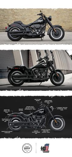 Modern power in a blacked-out classic. | 2017 Harley-Davidson Fat Boy S #harleydavidsonmotorcycles #harleydavidsonfatboy2017