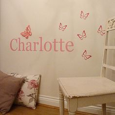 Personalised 3D Butterfly Wall Sticker