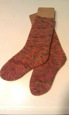 Hand Knit Women's Socks Size  7 1/2 by SpruceCottageKnits on Etsy, $34.00