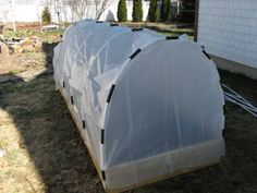 """Good article about how to build a small hoop house over your garden to extend the growing season.""  I need to make this!!!"