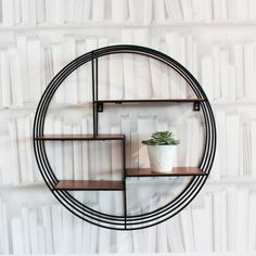 Round Copper Deco Shelf - View All Walls & Floors - Wall & Floors - Home Accessories Small Wall Shelf, Frame Shelf, Wall Mounted Shelves, Wooden Shelves, Wire Shelving Units, Cabinet Shelving, Copper Shelf, Copper Wire, Round Shelf
