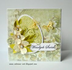 Lovely Easter card with huge egg, dimensional flowers + butterflies, and lovely patterned paper...an Easter delight!!
