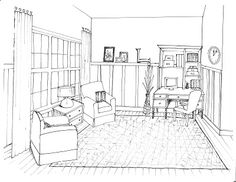 Lauren's Keeping Room Sketch