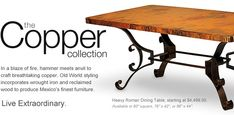 Mexican Copper & Reclaimed Wood #Furniture - Copper Furniture For #Sale
