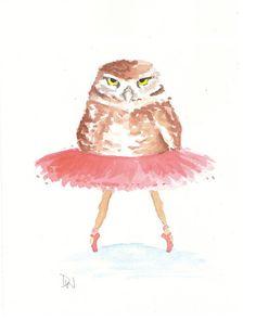 water in my paint : ballet owl