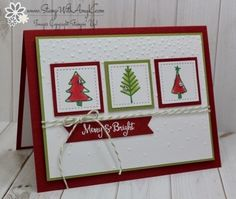I used the Stampin' Up! Watercolor Christmas stamp set to create my card for the Sunday Stamps sketch challenge this week. Here is the sketch for Sunday Stamps SSC166. Be sure to stop by the Sunday S