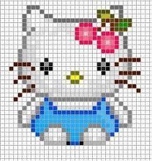 Resultado de imagen de hello kitty ponto cruz