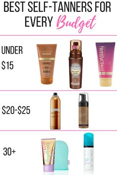 Best Self-Tanners For Every Budget – Suncare Best Tanning Lotion, Self Tanning Lotions, Suntan Lotion, Tanning Cream, Tanning Products, Tanning Bed, Best Sunless Tanner, Sunless Tanners, Sephora