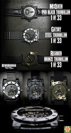 Refined Hardware's Three New Limited Edition Rugged and Industrial Watches. Unusual Jewelry, Fine Jewelry, Rugged Watches, Man Gifts, Art Of Manliness, Limited Edition Watches, Jewelry Trends, Custom Jewelry, 18k Gold