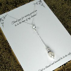 Set of 2 Mother of the Bride & Groom Gifts by StarringYouJewelry